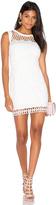 Aijek Caroline Embroidered Mini Dress