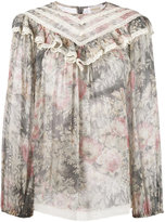 Zimmermann floral print ruffle blouse - women - Silk - 1