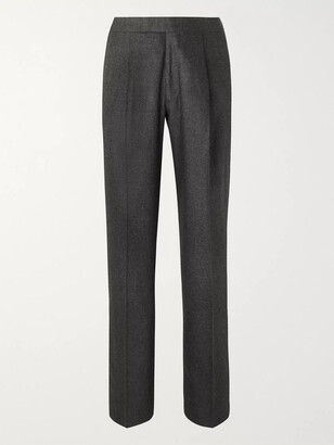 The Row Grey Martin Melange Wool-Blend Suit Trousers - Men - Gray