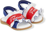 Fendi ruffle logo sandals