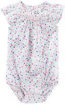 Osh Kosh Baby Girl Floral Smocked Bodysuit
