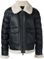 Moncler padded sleeve shearling jacket - men - Sheep Skin/Shearling/Polyamide - 2