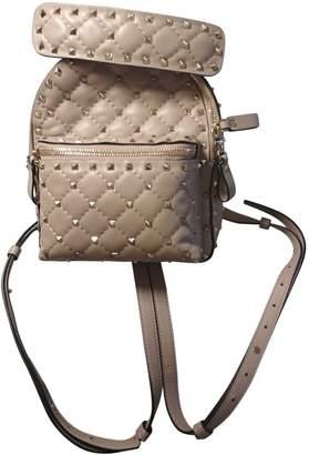 Valentino Rockstud spike Beige Leather Backpacks