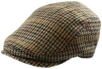 London Fog Houndstooth Wool-Blend Ivy Cap