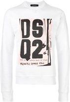 DSQUARED2 punk logo sweatshirt