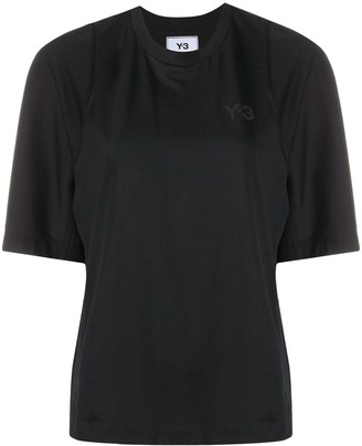 Y-3 panelled logo cotton T-shirt