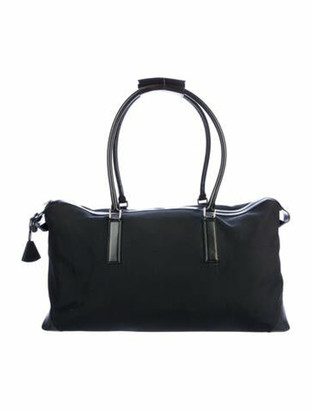 Givenchy Leather-Trimmed Duffle Bag Black