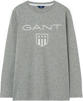 Gant Boys Shield Long Sleeve T-Shirt