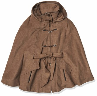 Calvin Klein Womens Toggle Front Wool Cape