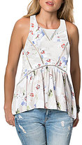O'Neill Ona Floral-Printed Ladder-Trim Tank Top