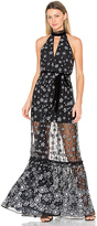 Alexis Florence Gown in Black & White. - size M (also in S)