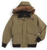 The North Face Boy's Gotham Hooded Waterproof 550-Fill Power Down Jacket