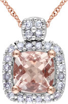 JCPenney Genuine Morganite & Diamond Pendant Necklace