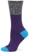 Hot Sox Color Blocked Marled Boot Socks