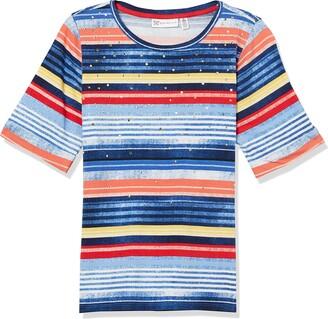 Rafaella Women's Seaside Stripe Jersey Short Sleeve Tee