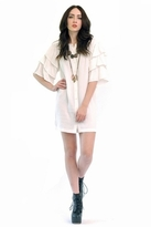 American Gold Spanish Moon Dress in White