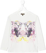 Roberto Cavalli tiger print T-shirt - kids - Cotton/Spandex/Elastane - 4 yrs
