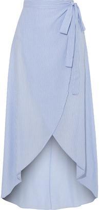 Onia Amanda Striped Cotton-voile Wrap Skirt