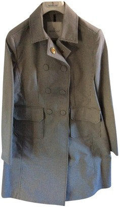 Moncler Black Cotton Trench Coat for Women