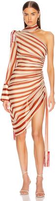 Monse Regalia Scarf Dress in Rust & Ecru | FWRD