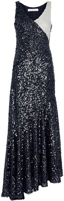 Walk of Shame Navy Sequin-embellished Midi Dress