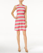 MICHAEL Michael Kors Madison Striped Fit & Flare Dress