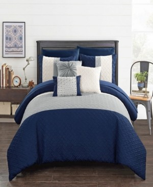 Chic Home Osnat 10 Piece King Bed In a Bag Comforter Set Bedding