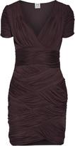 Halston Ruched jersey mini dress