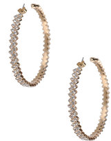 Faux Diamond Lined Hoops