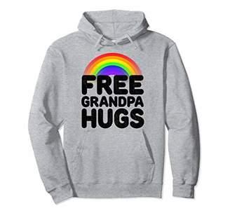 Free Grandpa Hugs Pride Parade LBGT Hugging Pullover Hoodie