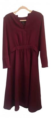 A.P.C. Burgundy Polyester Dresses