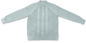 Karen Scott Plus Size Cable-Knit Mock Neck Cotton Sweater, Created for Macy's