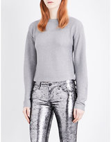 Thierry Mugler Metallic cotton-blend jumper