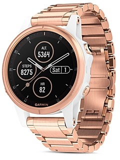 Garmin Fenix 5S Plus Rose Gold-Tone Link Bracelet Smartwatch, 42mm - 100% Exclusive