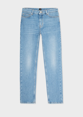 Women's Vintage-Wash Girlfriend-Fit Jeans