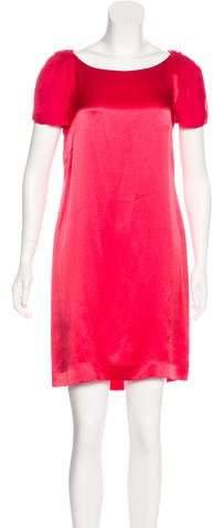 Philosophy di Alberta Ferretti Ruffled Silk Dress w/ Tags