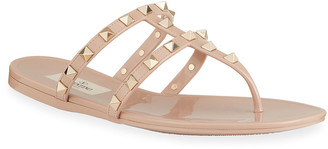 Valentino Summer Rockstud Jelly Sandals
