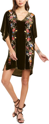 Johnny Was Isla Silk-Blend Kimono Dress