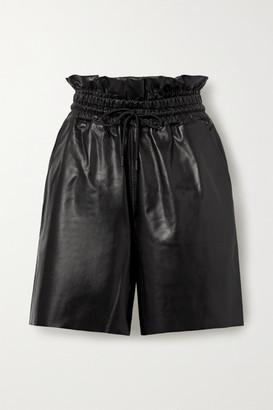 RtA Amata Leather Shorts - Black