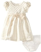 Bonnie Baby Baby-Girls Infant Metallic Yarn Dye Check Dress