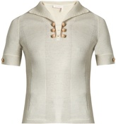 See by Chloe Short-sleeved wool polo top