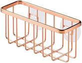 InterDesign Gia Kitchen Sink Suction Sponge and Scouring Pad Holder, Copper