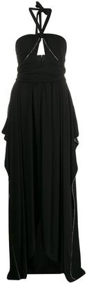 Amen Embellished Halter Neck Gown