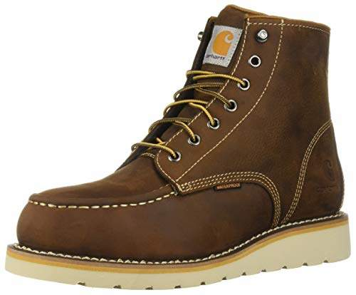 cdd0afc8746 Men's 6 Inch Waterproof Wedge Boot Steel Toe Industrial Oil Tanned Leather,  10.5 M US