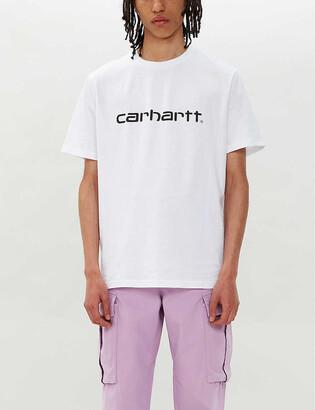 Carhartt Wip Logo-print cotton-jersey T-shirt