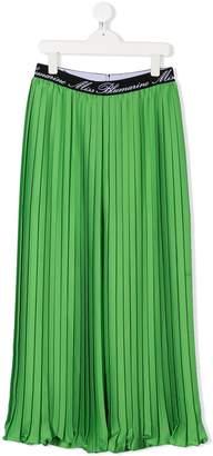 Miss Blumarine TEEN pleated palazzo trousers