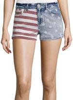 Vanilla Star Allover Print Americana Denim Shorts