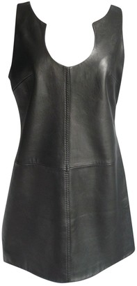 Hotel Particulier Black Leather Dress for Women