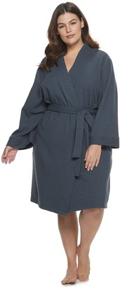 Sonoma Goods For Life Plus Size Pucker Knit Robe