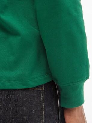 Ami De Cur Logo-embroidered Cotton-jersey T-shirt - Green